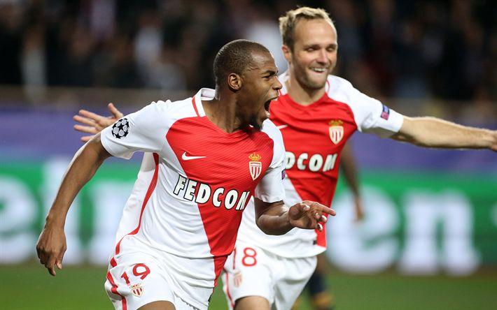 Télécharger fonds d'écran Djibril Sidibe, AS Monaco FC, footballers, soccer
