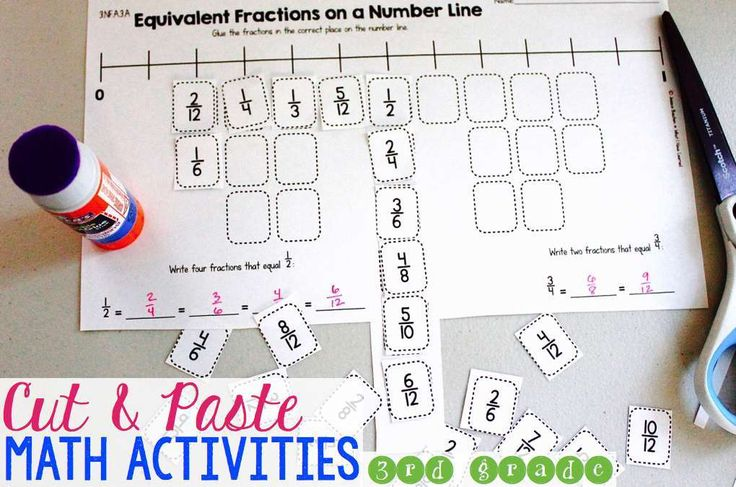 Third Grade Cut & Paste Math Activities – What I Have Learned
