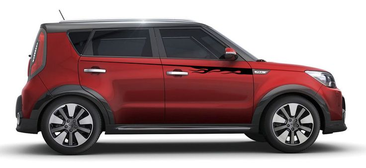 "CUSTOM DESIGNED STRIPE ""FLAMES"" for 2014-2015 KIA SOUL"