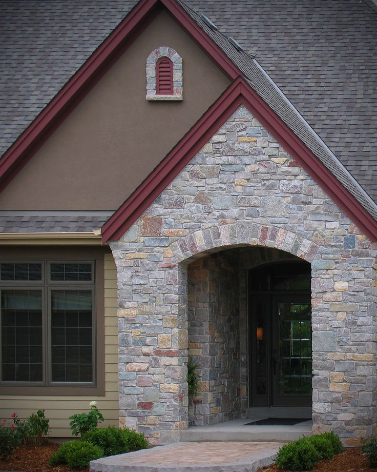 Exterior Lightingdesign Ideas: Cabin Creek River Rock Veneer