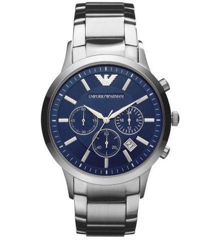 Emporio Armani Renato Blue Dial Chrono Watch AR2448 Campbell Jewellers Dublin Ireland