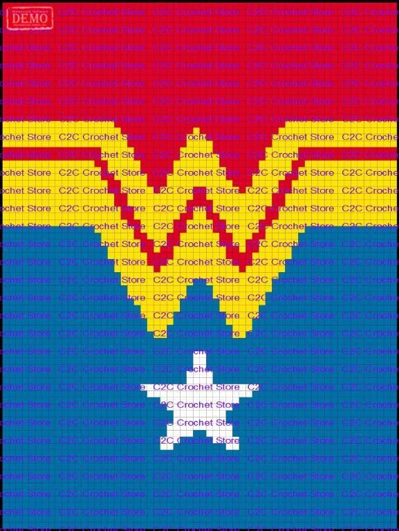 Looking for your next project? You're going to love C2C Wonder Woman Suit Graph Pattern by designer C2CCrochet.