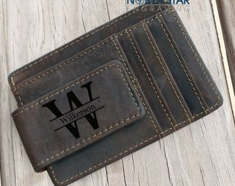 Mens Personalized, Mens Money Clip, Personalized Wallet, Money Clip Wallet, Custom money Clip, Brother gift, Husband gift, Fathers day gift
