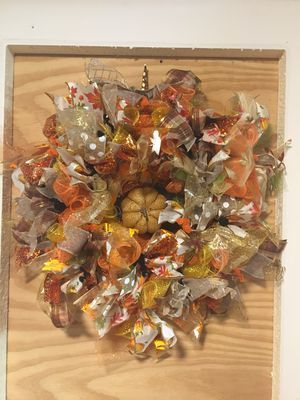 Fall harvest wreath handmade for Sale in Clearwater, FL Halloween