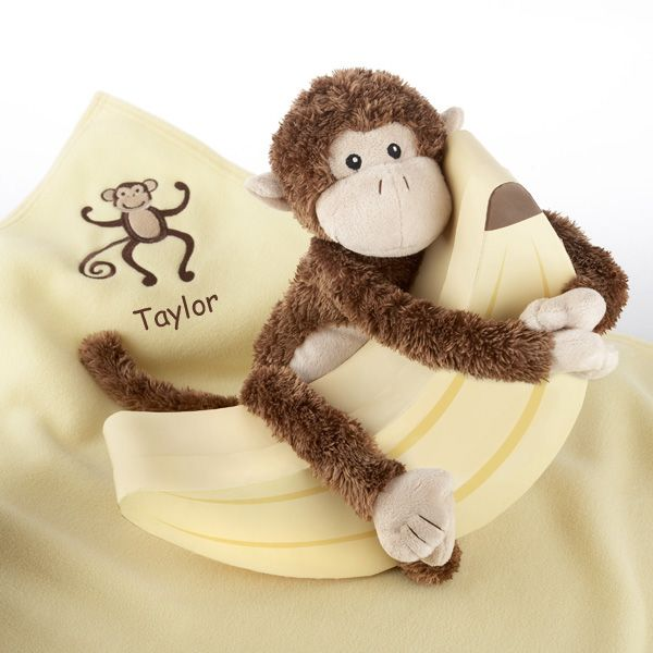 56 best blankies lovies images on pinterest baby gifts baby plush monkey magoo and blankie too in banana baby gift box negle Gallery
