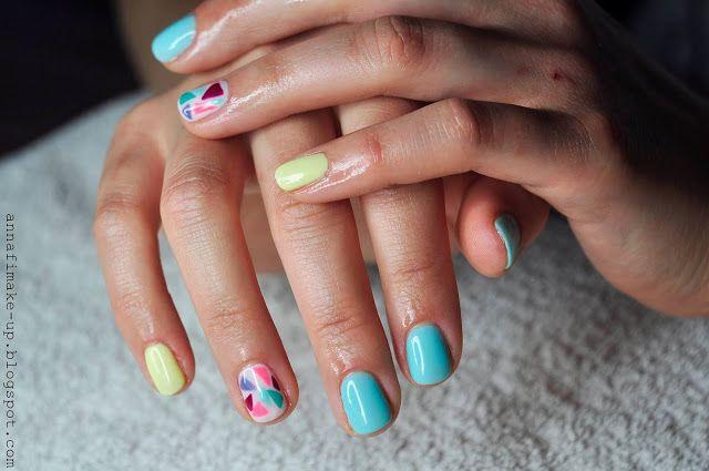 semilac, shellac, kolorowy manicure,