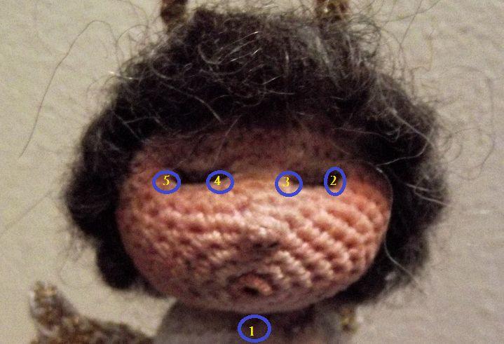 Owlishly Amigurumi Hair : 73 best images about OcchiNasiBoccheCapelli on Pinterest ...