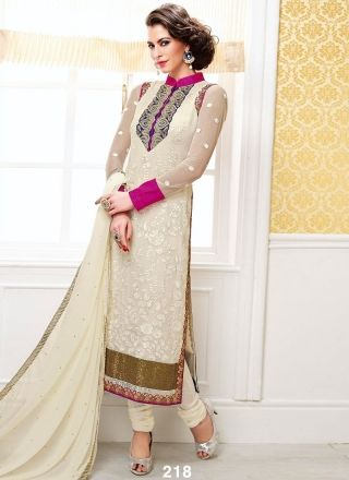 Charming Off White And Sea Green Designer Churidar Suit http://www.angelnx.com/Salwar-Kameez