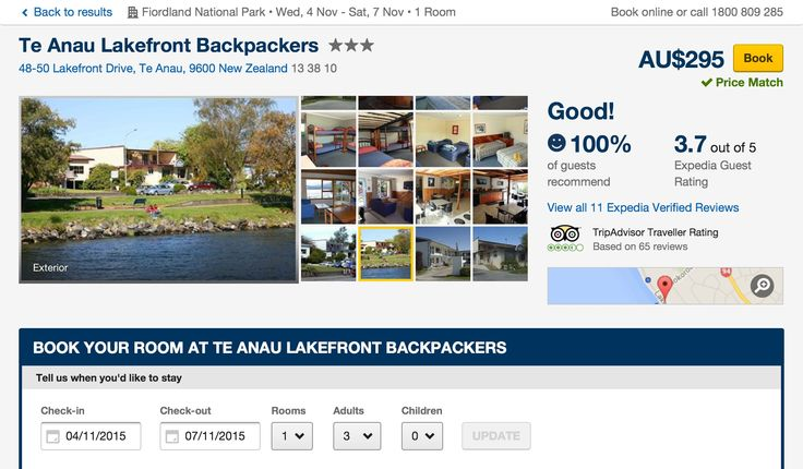 Backpackers accommodation, Te Anau, Fiorland-South Island