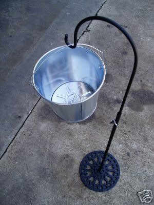 "Outdoor Ashtray Stand.  I don`t smoke but a lot of my friends and family does and I hate finding them in my yard maybe this will help.  can put a cute saying on it like ""nobody likes dirty butts in there yard""."