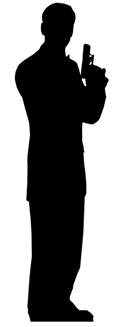 Secret Agent, spy Life Size Cut Out - get this as a decoration for the stairs or in a corner upstairs