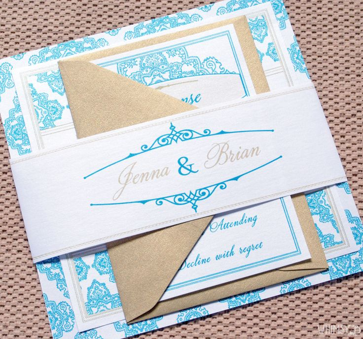 realtree wedding invitations%0A sky blue and gold wedding invitations   Wedding Invites Blue template