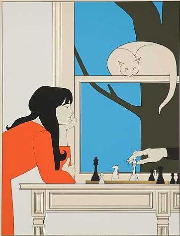 Illustration by Will Barnet, 1975, Seventh Season, Color serigraph.