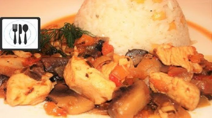Кавурма: жареная курица с грибами по-турецки