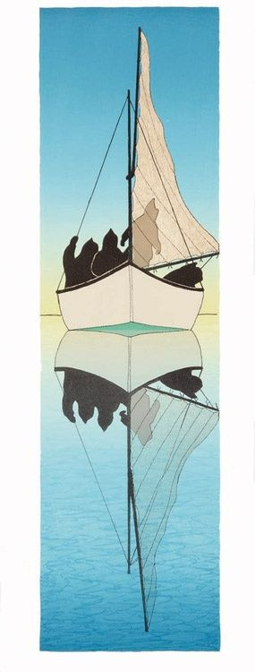 Lull, by Kananginak Pootoogook (Inuit Artist), 2008 -- Lithograph
