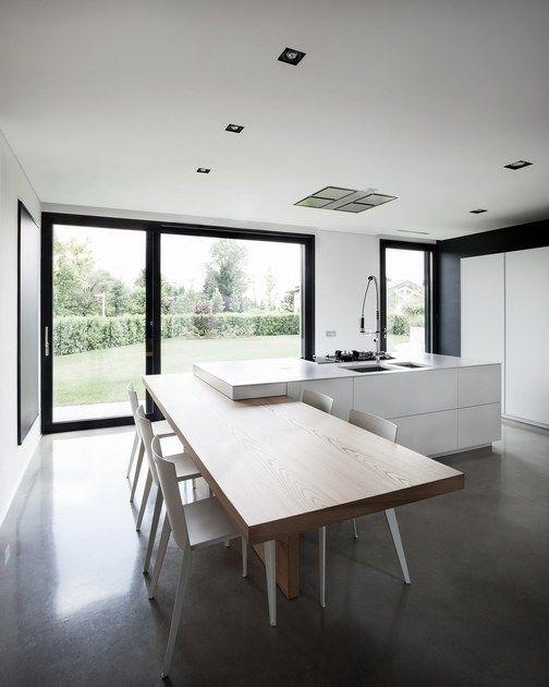 Cucina con isola D90 | Cucina in quarzo by TM Italia Cucine