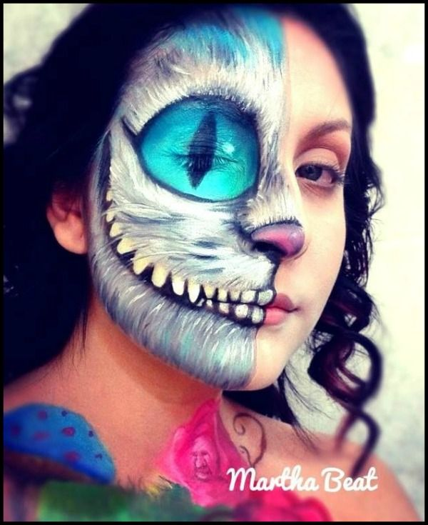 Okidoki Face Painting Blog | 10 Amazing Cheshire Cats Face Painting Designs | http://www.okidokifacepainting.com