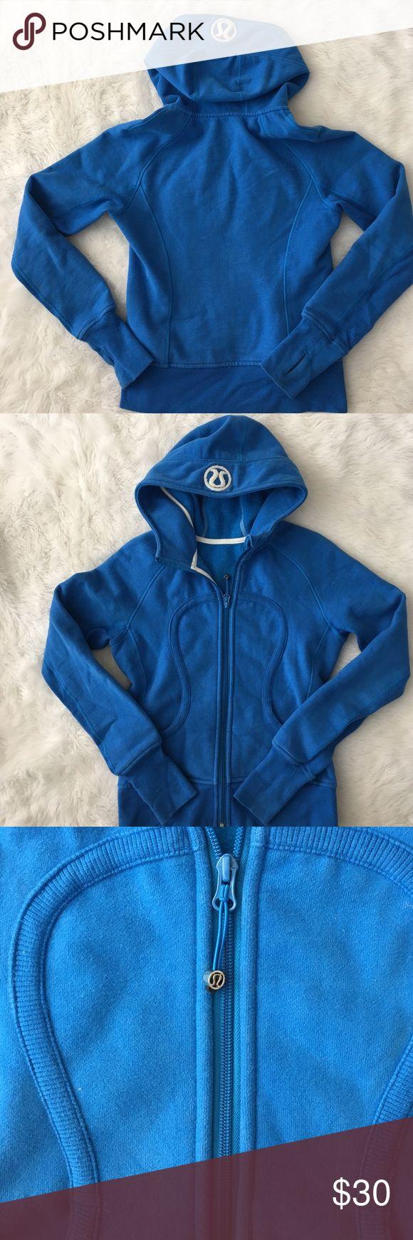 Lululemon scuba hoodie Lululemon scuba hoodie. Size 6. Colbalt blue. lululemon athletica Jackets & Coats