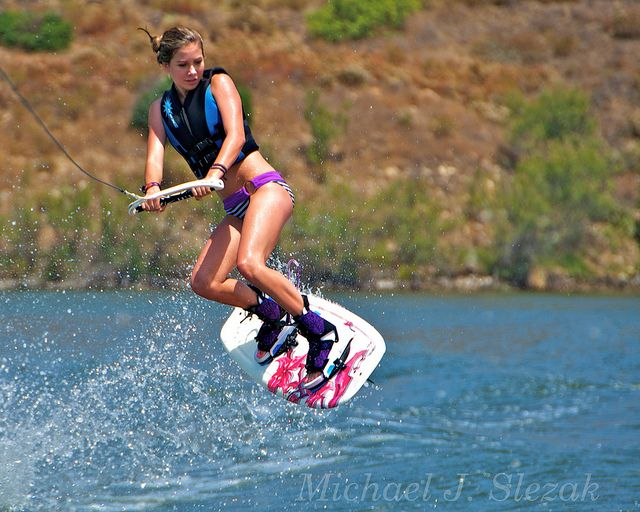 Wakeboarding! I could also do this everyday. If only I had a boat, and a board, and a tower, etc. ... maybe someday.  :)