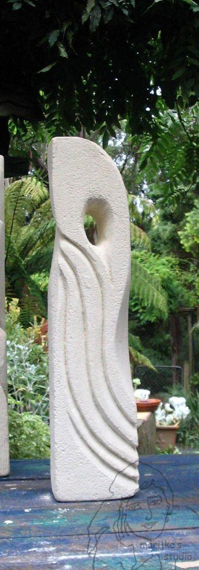 Marijke,carved garden sculpture