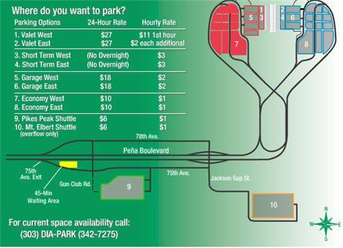 denver airport parking map. Black Bedroom Furniture Sets. Home Design Ideas