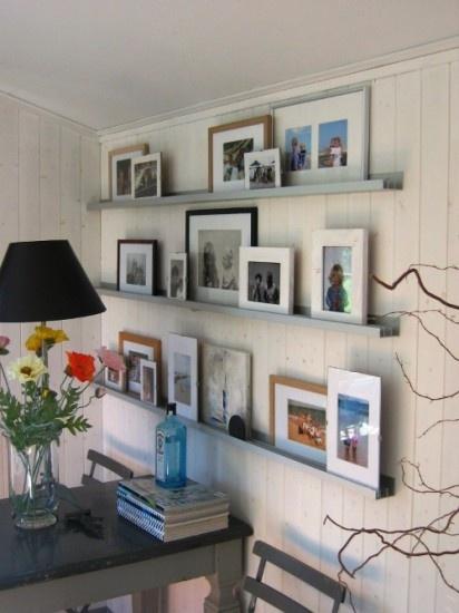 Fotolijstjes muur op rails, leuk! Door jas2507