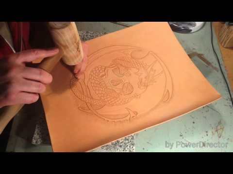 Leather craft 5 - YouTube
