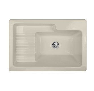 CorStone 651 Hamilton Self Rim Laundry Sink With Recessed Drainboard And 1  Faucet Hole