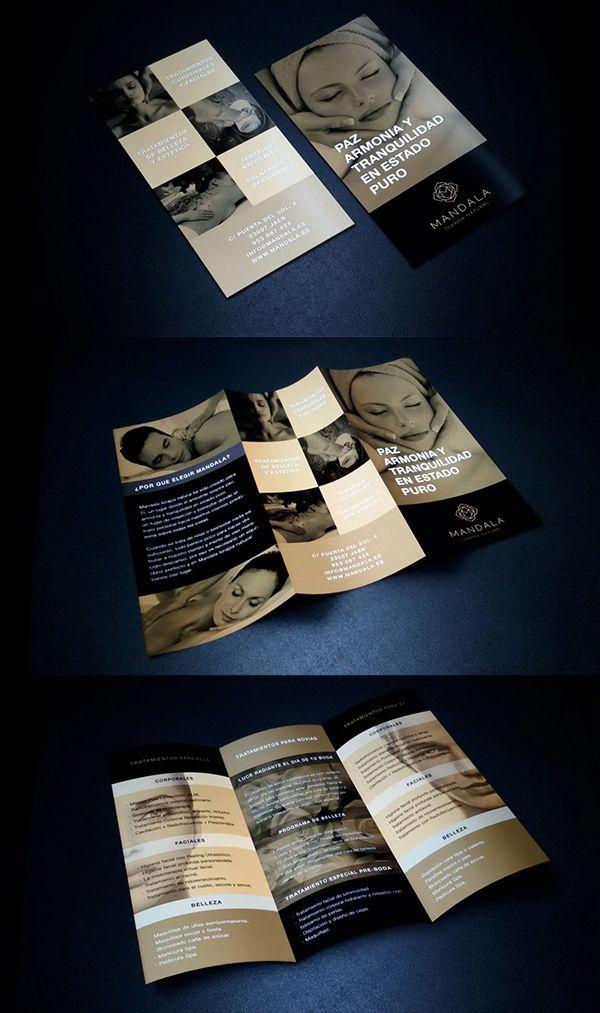Diseño de un tríptico por una alumna para la empresa ficticia Mandala
