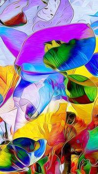 Kolorowa abstrakcyjna kwiecista grafika