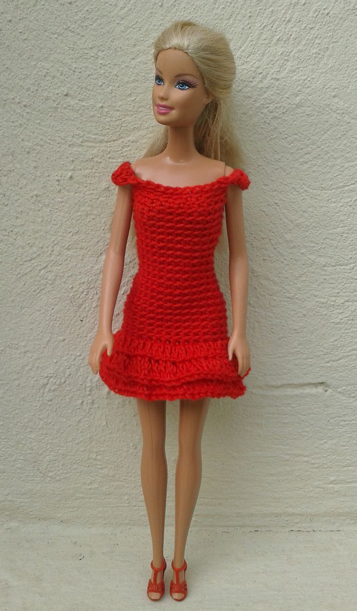 Ravelry barbie in red crochet dresses pattern by linda mary