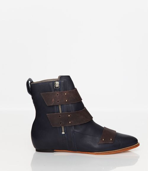 Skin by FINSK AW13: 479-00 INK hidden wedge ankle boot from Skin By FINSK