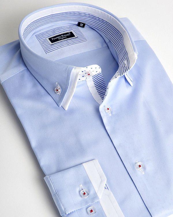 French shirt | Paris light blue and white | Franck Michel shirt