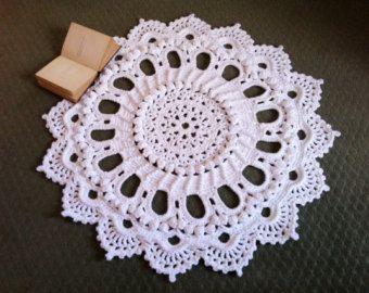 Lussuoso Crochet Doily tappeto Centrino fatto a di MissyDDesigns