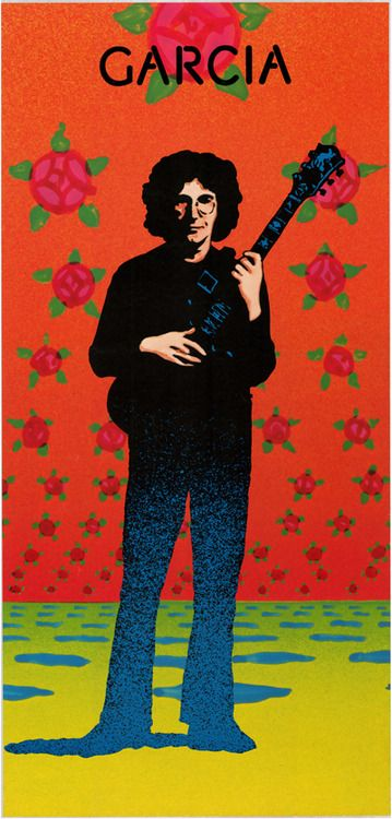 This poster is an original 1974 promotional poster issued by Round Records to promote Jerry Garcia's second solo album..... The design was done by VICTOR MOSCOSO