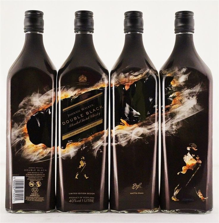 Johnnie Walker `Double Black` Blended Scotch Whisky 4X1LTR Scotland | eBay