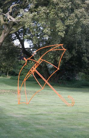 "NewArtCentre. Michael Craig-Martin. ""keep it clean"" says mama smurf."