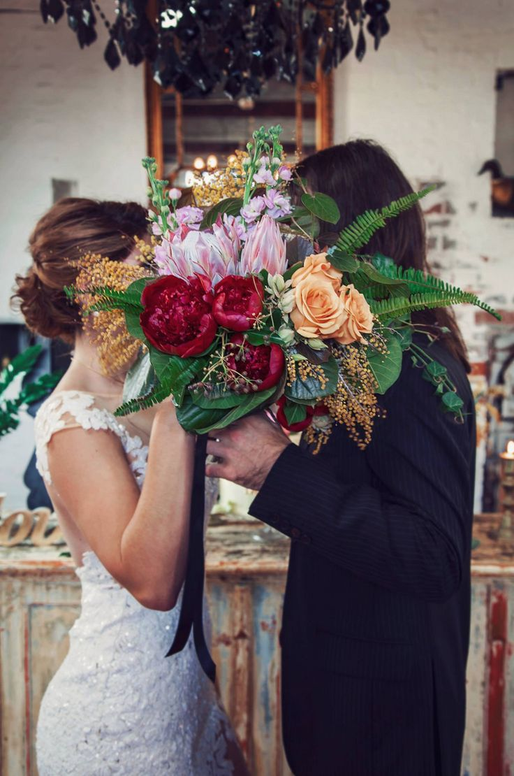 NATIVE + VINTAGE WEDDING SHOOT   PEONY | ROSE | STOCK | WATTLE | PROTEA | BOSTON FERN  BLUSH | RED | YELLOW  PHOTOGRAPHER . TAYLOR MITCHELL PHOTOGRAPHY   FLORIST . GRANDE FIORE FLORIST