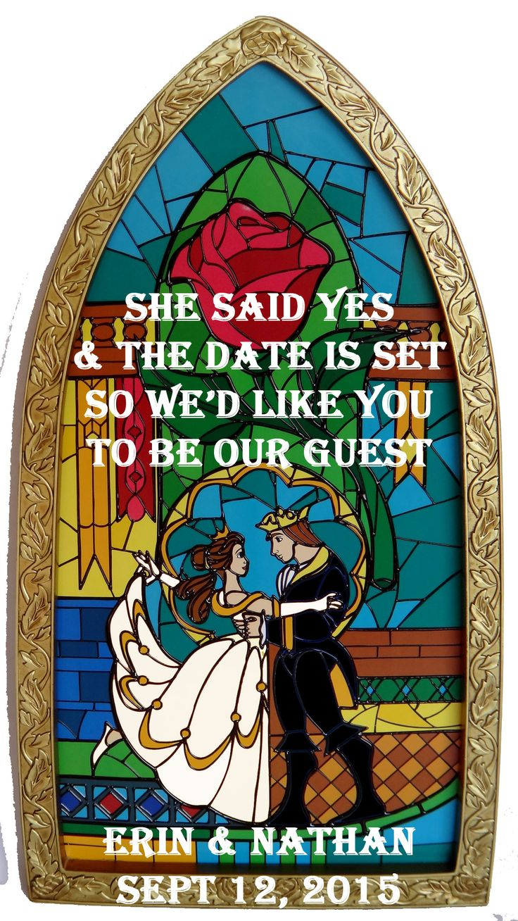 Beauty and the Beast Save the Dates! - Weddingbee