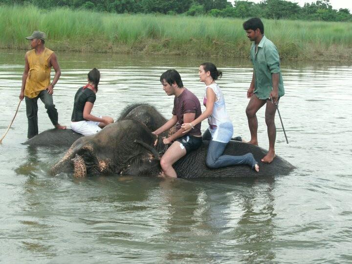 Nepal con los elefantes
