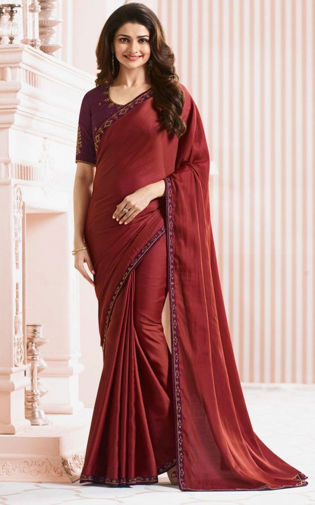 ceafdf9642b Buy Red Georgette Designer saree Online