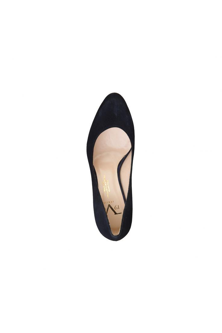 Pantofi pentru femei marca Versace 1969 4665 GAE CAMOSCIO BLU
