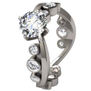 Cosine Titanium Engagment Ring $949