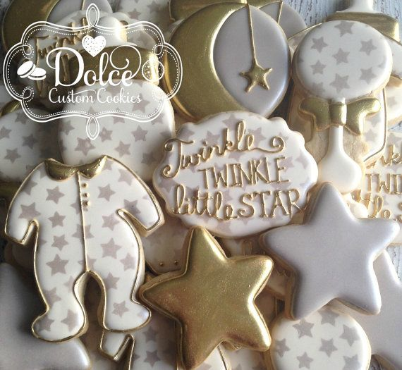 Twinkle Twinkle Little Star Baby Shower by DolceCustomCookies