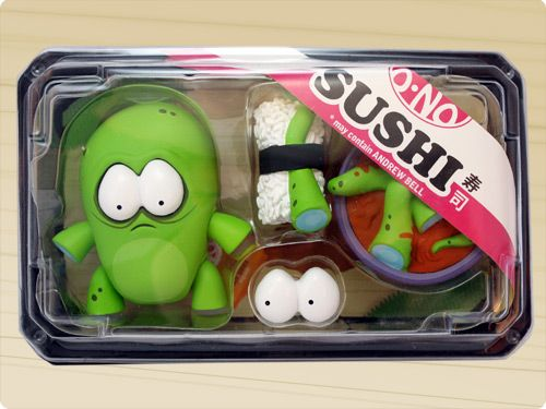 O-No Sushi!  Toys designed by Andrew Bell.  These sushis are not excited to be food...