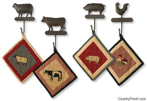 pot holders and hooks