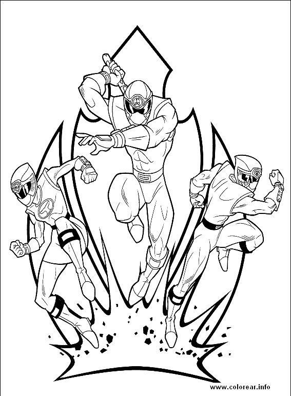 Power Rangers Ninja Steel Coloring Pages Coloring Pages