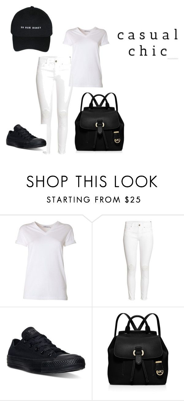 """Causal Chic"" by loffialux on Polyvore featuring moda, T By Alexander Wang, H&M, Converse i MICHAEL Michael Kors"