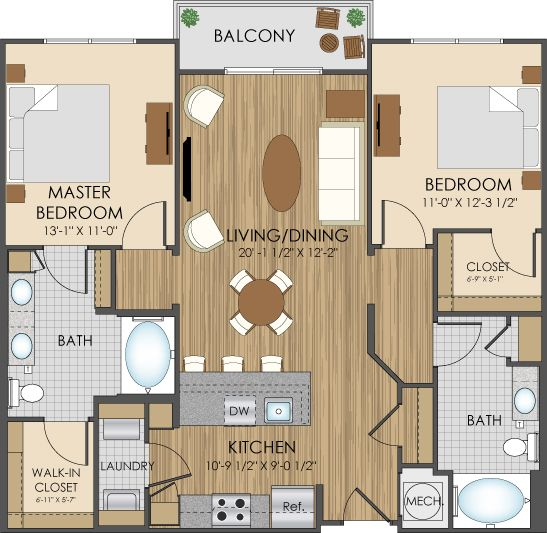 Floor Plans Of Hidden Creek Apartments In Gaithersburg, MD 20877. House Floor  Plan DesignCondo ...