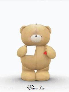 FOREVER FRIENDS TEDDY BEAR GIF